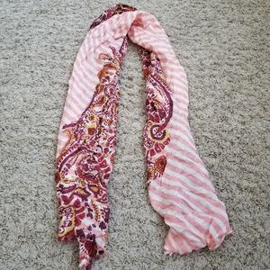 Paisley + Striped Scarf